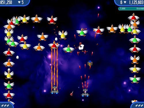 تحميل لعبة حرب الدجاج في الفضاء 2 و3 و4 و5 Chicken Invaders