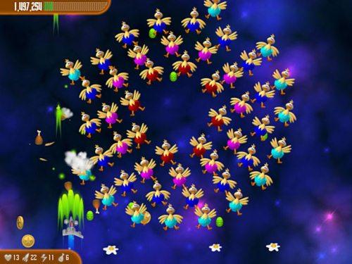chicken invaders 3 revenge of the yolk easter edition screen2 تحميل لعبة حرب الدجاج في الفضاء 4   لعبة الفراخ 4