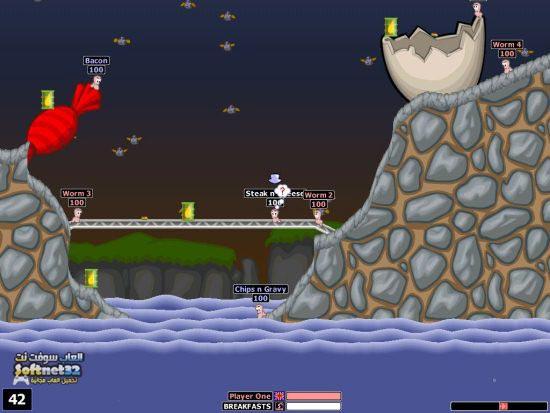 تحميل لعبه حرب الديدان للكمبيوتر Download Worms Wold Party