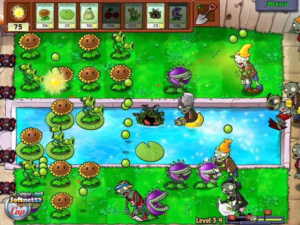 تحميل لعبة النبات ضد الزومبي برابط واحد Plants vs zombies