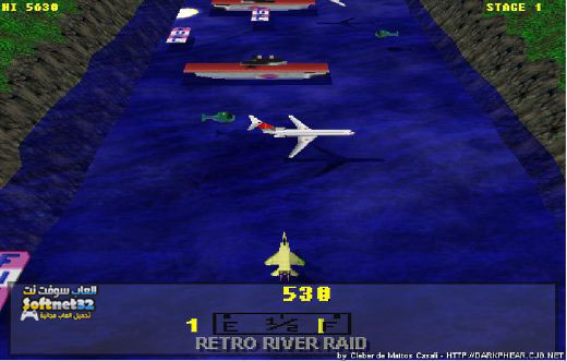 Retro River Raid game