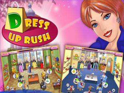 تحميل أجمل العاب البنات للكمبيوتر صاحبة البوتيك Dress Up Rush كاملة