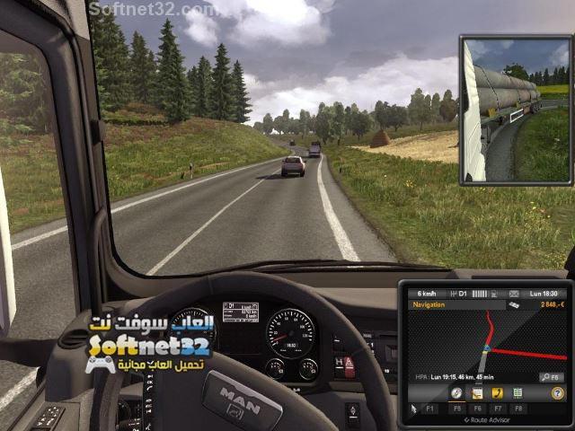 تحميل لعبة الشاحنات Euro Truck Simulator Pc كاملة برابط واحد
