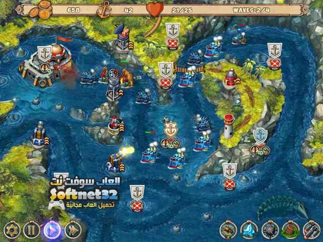 تحميل لعبة المدفعية البحرية Iron Sea Defenders مجانا