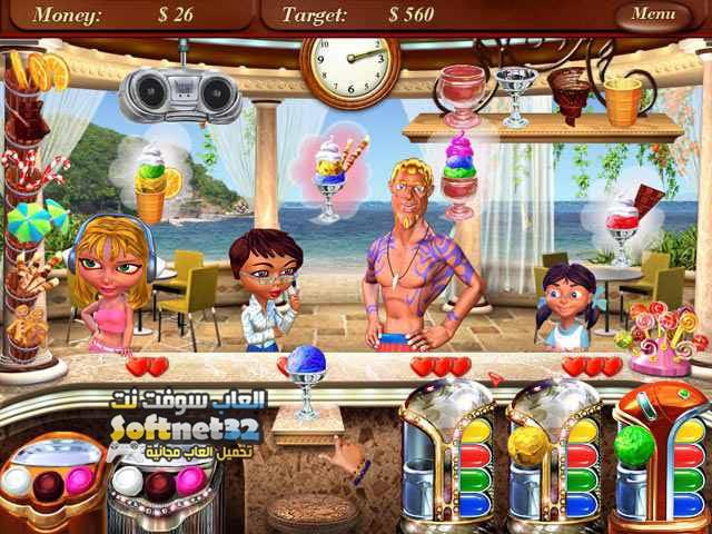 تحميل لعبة لعبة بائعة الايس كريم Ice Cream Mania مجانا