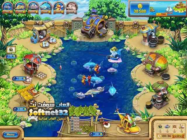 تنزيل لعبة مزرعة السمك Farm Frenzy Gone Fishing