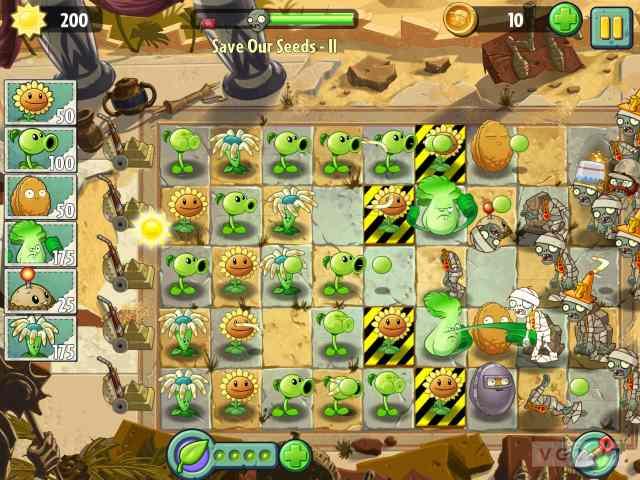 تحميل لعبة النباتات ضد الزومبي plants vs zombies 2 للاندرويد