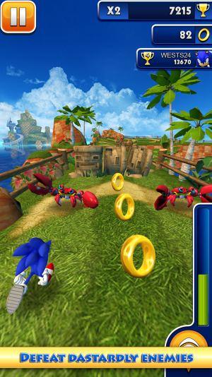 تحميل لعبة سونيك داش Sonic dash Android للاندرويد