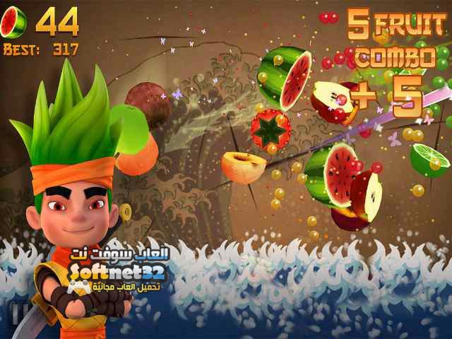 تحميل لعبة تقطيع الفواكه نينجا للكمبيوتر Fruit Ninja