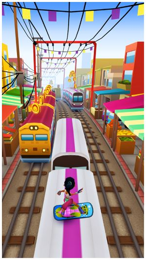 تحميل لعبة صب واي سيرف مجانا كاملة للاندرويد Subway Surfers
