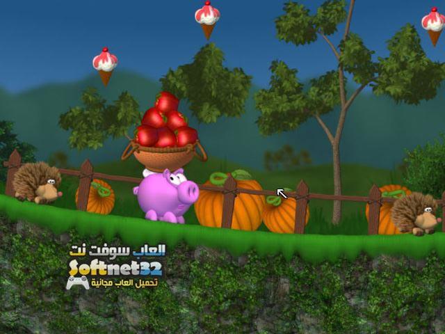 تحميل لعبة المغامرات الخنزير والتفاح Piggly
