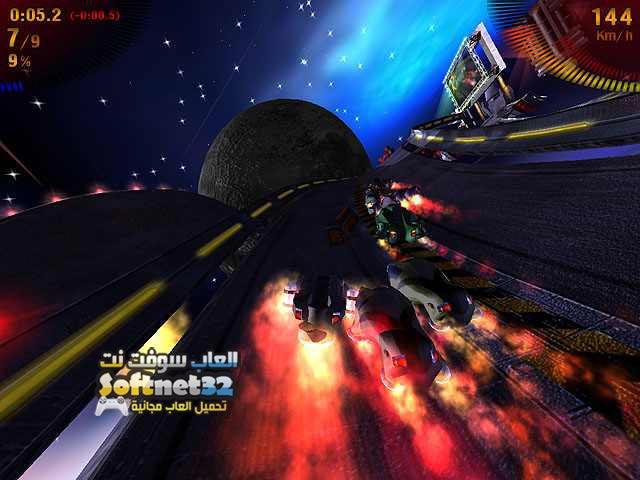 تحميل ألعاب سباق سيارات الفضاء مجانا للكمبيوتر Space Extreme Racers