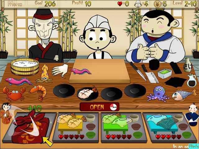 تحميل لعبة مطعم الوجبات السوشي Sushi Bar Express
