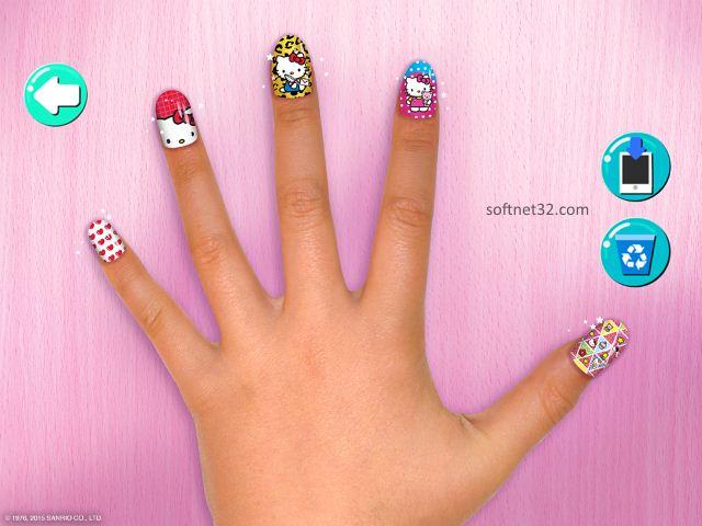 تحميل لعبة صالون هيلو كيتي للمناكير Hello Kitty Salon مجانا