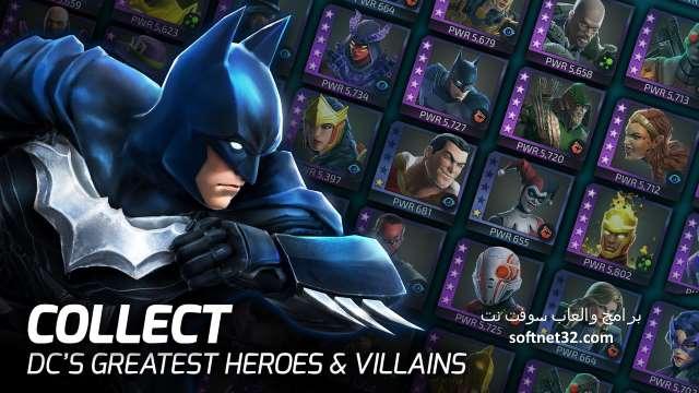 تحميل العاب حربية للاندرويد - لعبة اساطير القوة الخارقة DC Legends