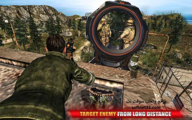 تحميل لعبة حرب اطلاق النار مجانا للموبايل Mountain Sniper War