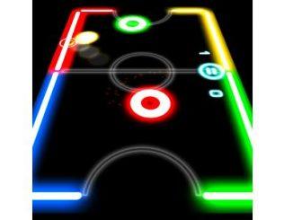 لعبة glow hockey على الكمبيوتر