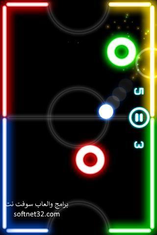 تحميل لعبة glow hockey للاندرويد