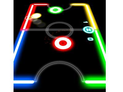 تحميل العاب اندرويد هوكي الطاولة مجانا برابط مباشر Glow Hockey