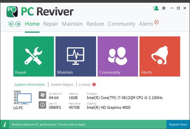 تحميل برنامج صيانة الجهاز وتصليح الاعطال مجانا 2018 PC Reviver