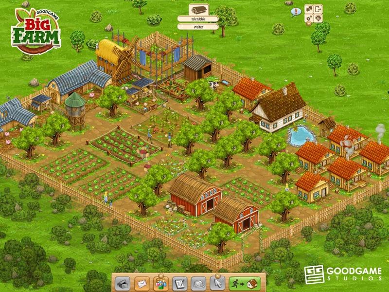 تحميل لعبة big farm